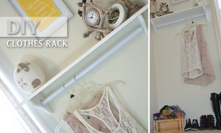 DIY Clothing Rack!! Inexpensive Decorative and Functional | Small Spaces – StyleByNap85