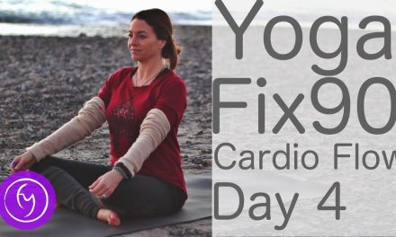 20 Minute Yoga Cardio Flow Day 4 Vinyasa Yoga Fix 90 | Fightmaster Yoga Videos