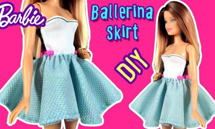 How to Make Ballerina Skirt for Barbie Doll – DIY – Barbie Clothes – Making Kids Toys