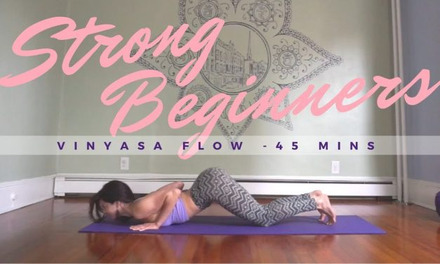 Strong Beginners Vinyasa Yoga Class – 52 minutes