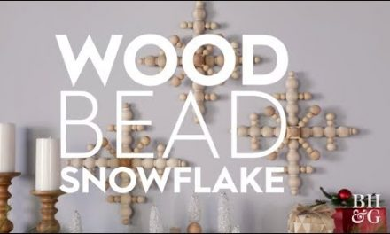 Pretty DIY Wood Snowflake | Holiday Crafts | Better Homes and Gardens