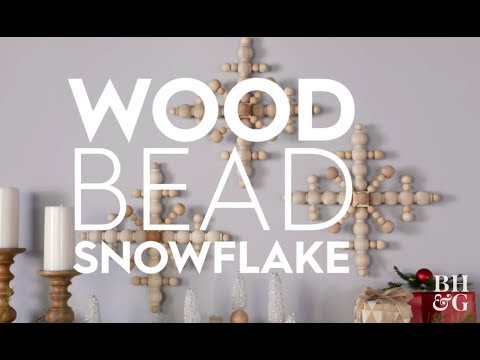 Pretty DIY Wood Snowflake   Holiday Crafts   Better Homes and Gardens