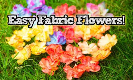 How to make DIY Fabric Flower Embellishments | Easy Craft Projects | A Damsels in DIY Tutorial