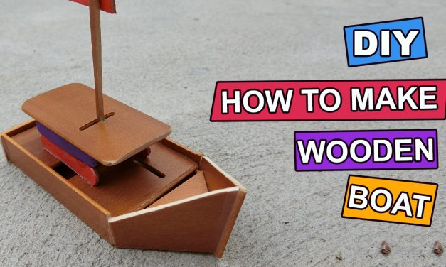 How to make DIY wooden Ship toy: Crafts ideas
