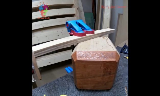 Timelapse Build Wooden Thor's Hammer – DIY and Crafts