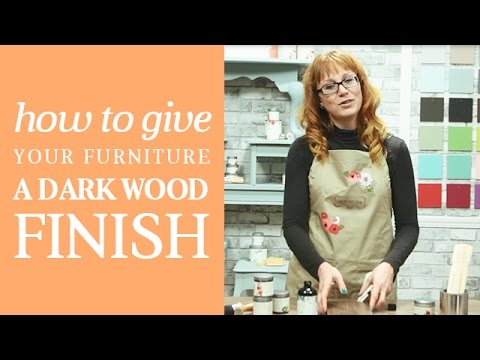 How To Create a DIY Dark Wood Stained Finish on Furniture | Country Chic Paint