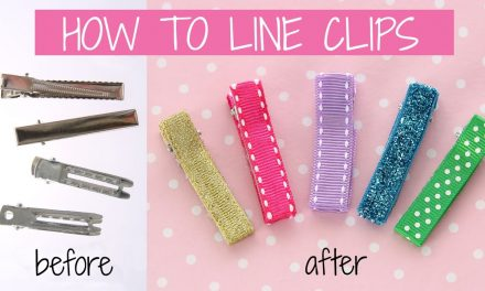 DIY Hair accessories | How to line an alligator clip | How to make hair clips