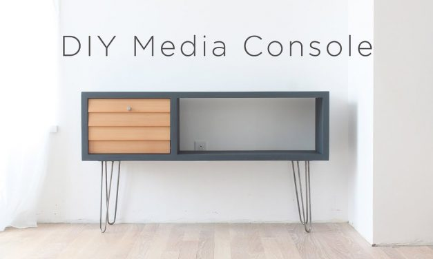 DIY Media Console | A Mid-century Modern Inspired DIY project