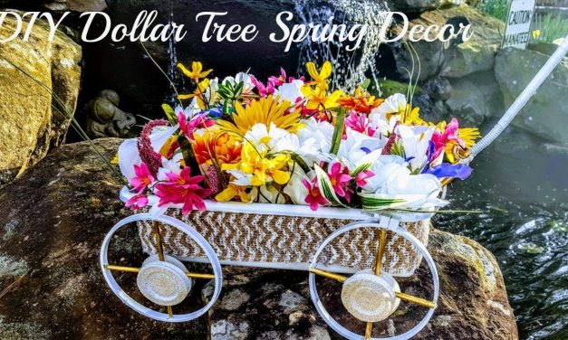 "DIY Dollar Tree Spring Outdoor Porch Decor ""Floral Decor Wagon"""