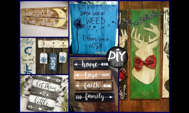 DIY Rustic Wood Signs – Crafts Ideas To Make And Sell