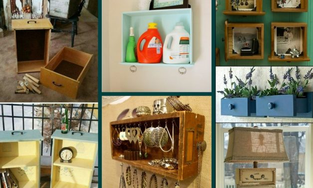 DIY Repurposed Old Drawer Ideas – Recycled Home Decor