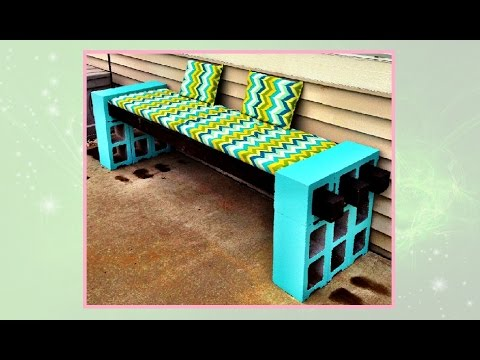 How to Make a Cinderblock Bench – DIY Projects