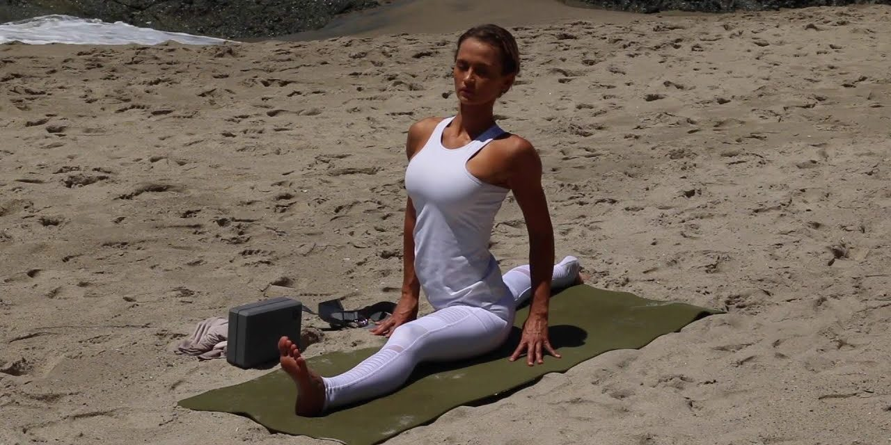 20 minute Yoga for flexibility, focus on hamstrings and hips