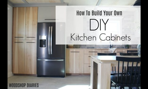 How to Build Your Own DIY Kitchen Cabinets–Using Only Plywood!