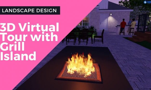 Landscape Design – 3D Virtual Tour with Grill Island