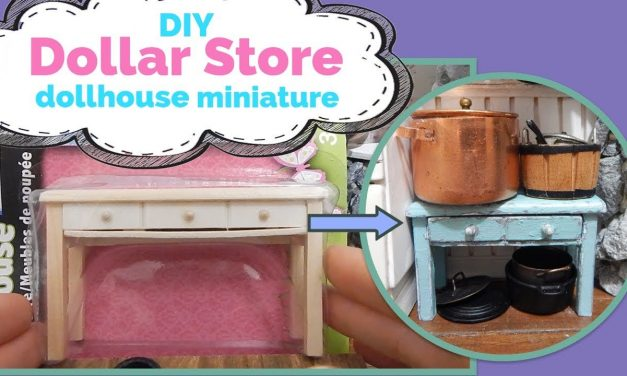 DIY – How to Make Dollar Store Dollhouse Miniature Furniture