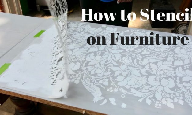 How to Stencil on Furniture: DIY Tutorial – Thrift Diving