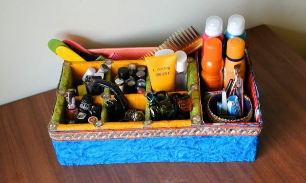 DIY Best out of Waste Dressing Table / Makeup / Accessory Organizer