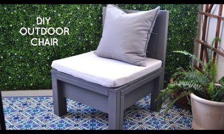DIY outdoor furniture: simple DIY chair perfect for outdoor living on a small rental balcony