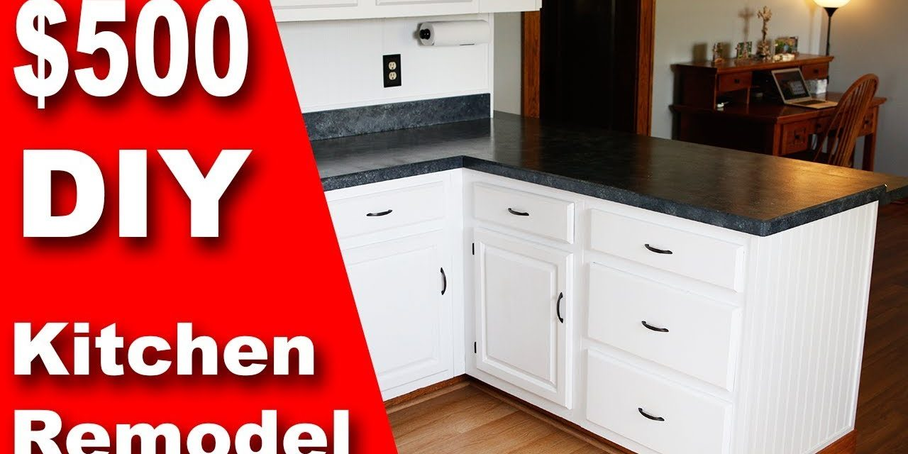 How To: $500 DIY Kitchen Remodel   Update Counter & Cabinets on a Budget