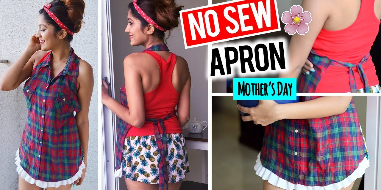 DIY: NO SEW APRON from SHIRT    Gift Ideas for Mother's Day