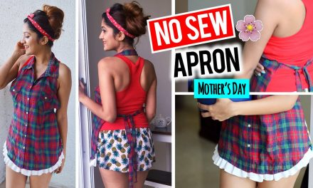 DIY: NO SEW APRON from SHIRT || Gift Ideas for Mother's Day