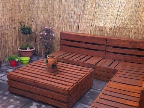 DIY Ideas – Garden Furniture Made From Old Pallets